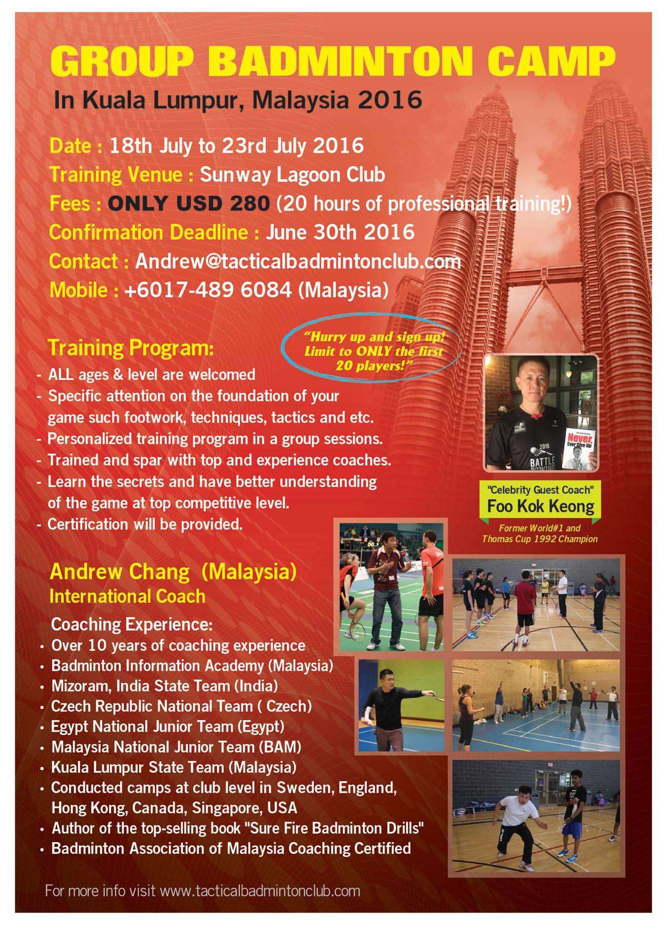 Group training camp in Kuala Lumpur, Malaysia 2016