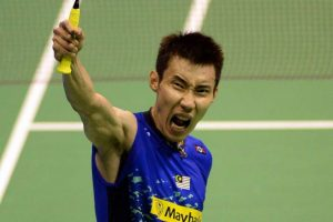 Lee Chong Wei shouting