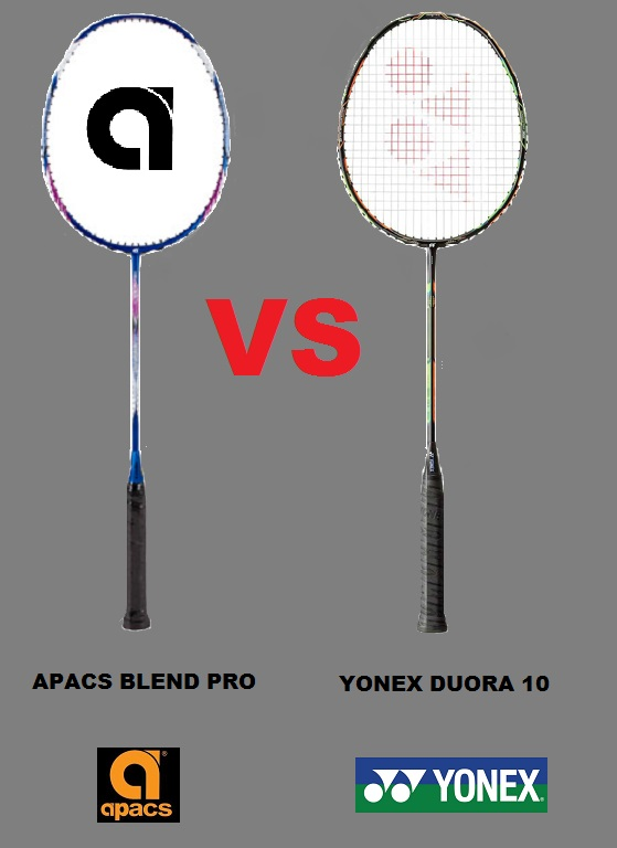 APACS Blend Pro VS. YONEX Duora 10 (Racket Comparison VideoReview)