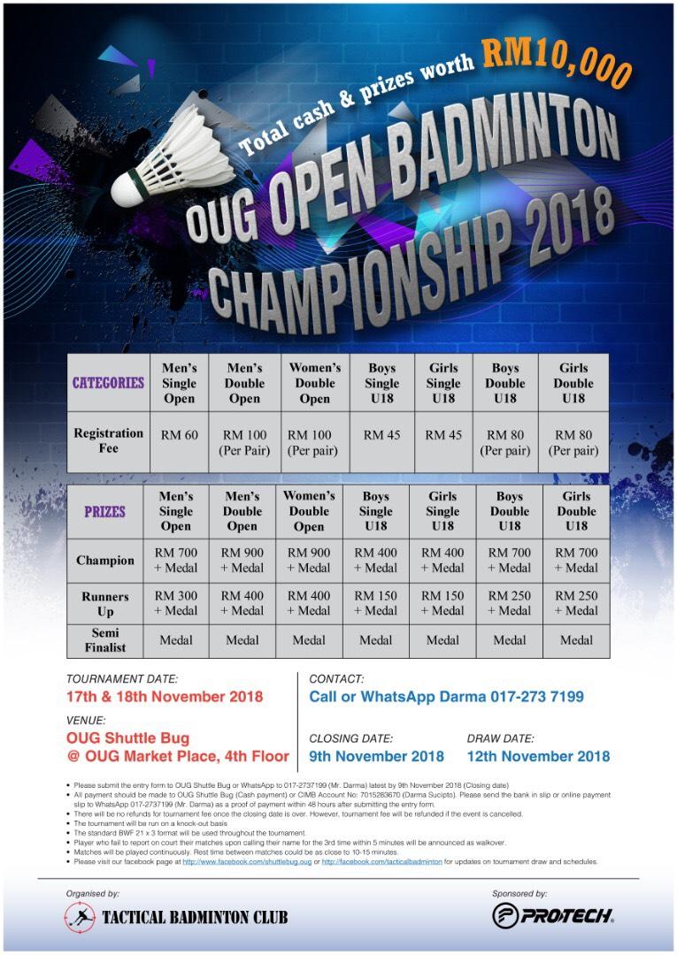 OUG Open Badminton Championship 2018